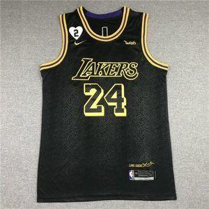 ⚔Kobe Bryant Black Mamba City Jersey Lakers Hear